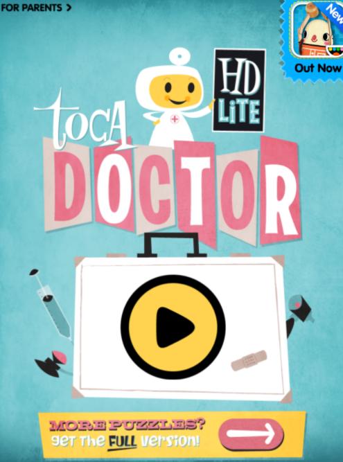 Toca Doctor interactive app for kids